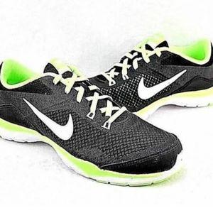 Nike Women's Flex Trainer Black/Green/White size10